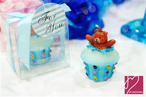 WCH2014 Teddy Bear Cupcake Candle - As Low As RM3.80 /Pc