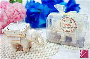 WCH2022 Antique Ivory Elephant Tea Light Holder - As Low As RM5.00 /Pc