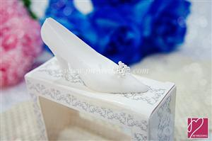 WCH2038 White Heels Candle Favor - As Low As RM2.50 /Pc