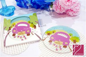 WCOA2004 Juz Married! Wedding Car Coaster (1Pcs)