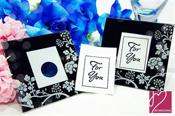 "WCOA2007 ""Timeless Traditions"" Elegant Black & White Photo Coasters (2 Pcs)- As low as RM2.50 /Set"