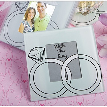 "WCOA2019 ""With This Ring"" Glass Photo Coasters (2 Pcs)  - As Low As RM3.00 /Set"