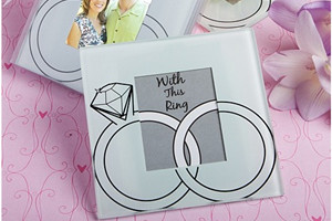 "WCOA2019 ""With This Ring"" Glass Photo Coasters (2 Pcs)  - As Low As RM2.99 /Set"
