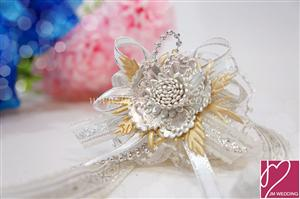 WHF1002 Color Round Ribbon Wrist Corsage-As Low As RM3.90 / Pc