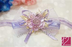 WHF1003 Color Butterfly Ribbon Wrist Corsage - As low As RM3.90 / Pc