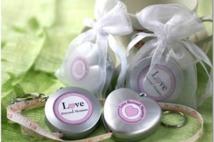 WMT2001 Love Measuring Tape Keychain Favor - As Low As RM3.90 /Pc