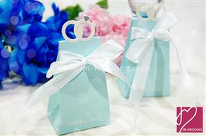 "WPB2012 ""With this Ring"" Elegant Icon Favor Box (Blue) – As low as RM0.45 /Pc"