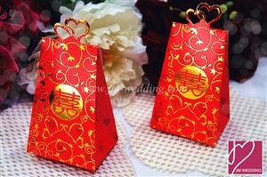 WPB2021-2 Wedding Ring Double Happiness Box - As low As RM 0.40 / Pc