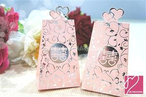 WPB2021-1 Wedding Ring Double Happiness Box - As low As RM 0.40 / Pc