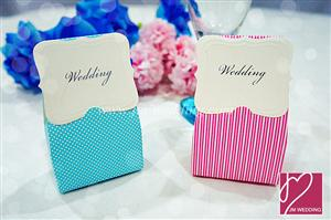 WPB2034 Vintage Frame  Dot Liner Favor Box (Pink/Blue) -as Low as RM0.45 /Pc