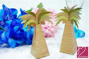 WPB2036 Coconut tree favor box - As Low As RM 0.75 / Pc